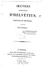 Oeuvres complètes d'Helvétius: Volume1