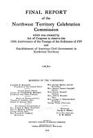 Final Report of the Northwest Territory Celebration Commission PDF