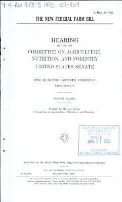 The new federal farm bill
