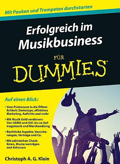 Musikbusiness f  r Dummies PDF