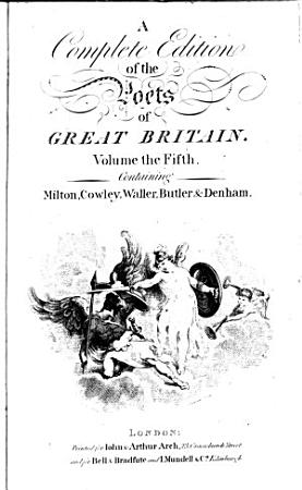 A Complete Edition of the Poets of Great Britain PDF