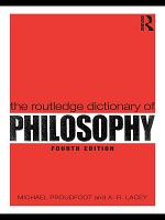 The Routledge Dictionary of Philosophy PDF