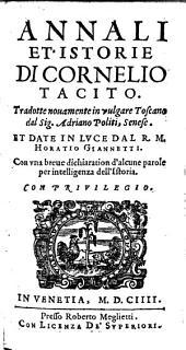 Annali et istorie, trad. novamente in vulgare Toscano da Adriano Politi et date in luce da Horatio Giannetti