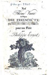 Thême varié de l'opéra Der Freyschütz: pour une flûte