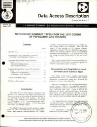 Sixth Count Summary Tapes From The 1970 Census Of Population And Housing Book PDF
