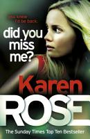 Did You Miss Me   The Baltimore Series Book 3  PDF