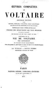 Œuvres complètes de Voltaire: La pucelle. Petits poëmes. Premiers contes en vers. 1877