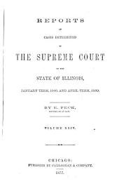 Reports of Cases Determined in the Supreme Court of the State of Illinois: Volume 24