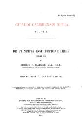 Giraldi Cambrensis Opera: Issue 21, Volume 8