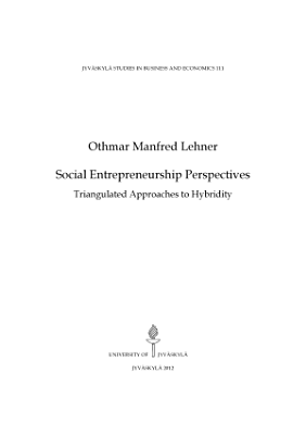 Social Entrepreneurship Perspectives  Triangulated Approaches to Hybridity PDF