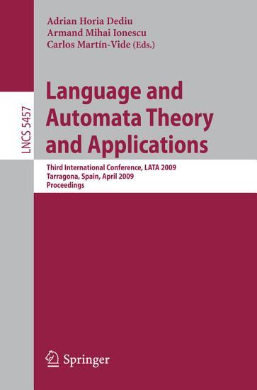 Language and Automata Theory and Applications PDF