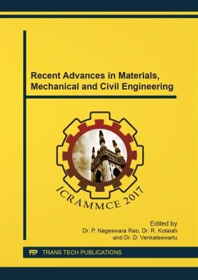 Recent Advances in Materials  Mechanical and Civil Engineering PDF