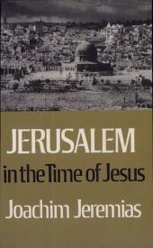 Jerusalem in the Time of Jesus: An Investigation Into Economic and Social Conditions During the New Testament Period
