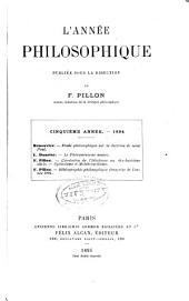 L'Annee Philosophique: Volume5