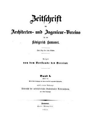 Zeitschrift des Architekten  und Ingenieur Vereins f  r das K  nigreich Hannover PDF