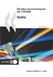 Études économiques de l'OCDE : Italie 2003