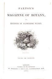 Paxton's Magazine of Botany, and Register of Flowering Plants: Volume 15