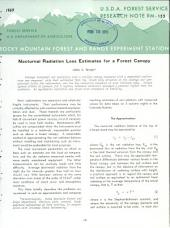 Nocturnal radiation loss estimates for a forest canopy