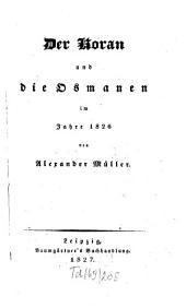 Der Koran und die Osmanen im Jahre 1826