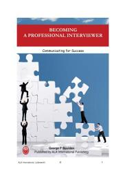 Becoming a Professional Interviewer
