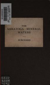 The Saratoga Mineral Waters: A Clinical Essay