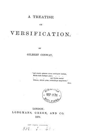 A Treatise on Versification PDF