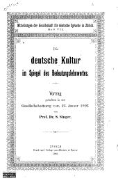 Die deutsche Kultur im Spiegel des Bedeutungslehnwortes