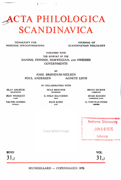 Acta philologica Scandinavica PDF