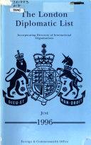 The London Diplomatic List