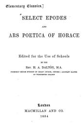 Select epodes and Ars poetica