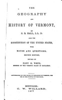 The Geography and History of Vermont PDF