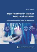 Ergonomiefaktoren auditiver Benutzerschnittstellen PDF