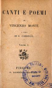 Canti e poemi di Vincenzo Monti: 1
