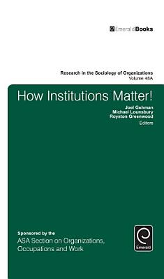 How Institutions Matter  PDF
