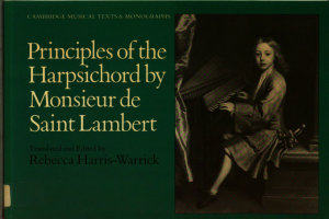 Principles Of The Harpsichord By Monsieur De Saint Lambert Book PDF