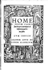 Homeri Poetae Clarissimi Ilias: Cvm Indice