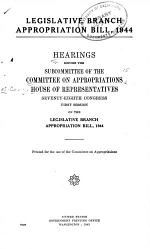 Legislative Branch Appropriation Bill, 1945