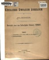 Programm des Gymnasiums und der Realschule 1. Ordnung des Königlichen Andreanums zu Hildesheim