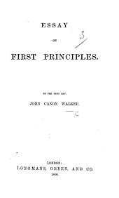 Essay on First Principles