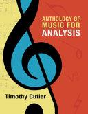 Anthology Of Music For Analysis