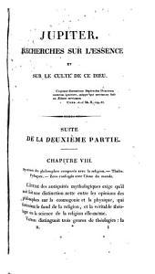Jupiter: recherches sur ce dieu, sur son culte, et sur les monuments qui le représentent, Volume1