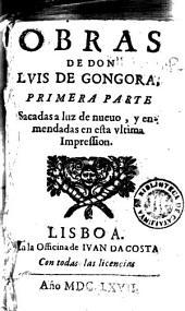 Obras de Don Luis de Gongora