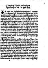 Straff-Schrift einer Klosterperson halben geschrieben