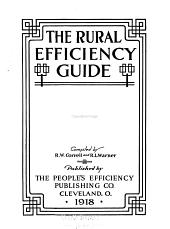 The Rural Efficiency Guide: Volume 1