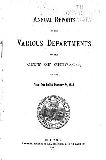 Annual Reports of the Various Departments PDF