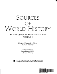 Sources of World History