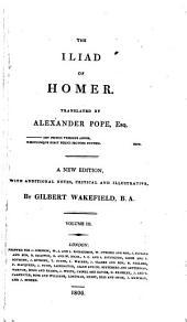 The Iliad of Homer: Volume 3