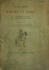 Sahara et Sahel