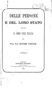 Delle persone e del loro stato secondo il Codice civile italiano
