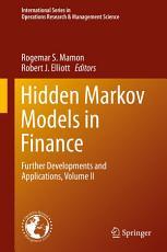Hidden Markov Models in Finance PDF